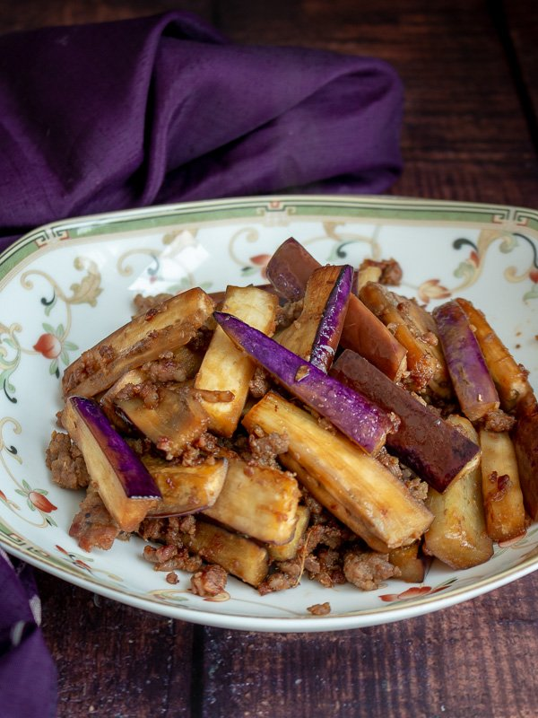 Chinese Eggplant with Spicy Pork / https://www.hwcmagazine.com