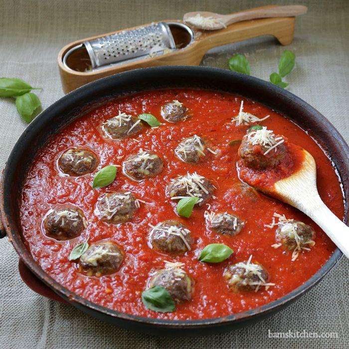 Spaghetti and Meatballs with Grandmas's Sauce / https://www.hwcmagazine.com