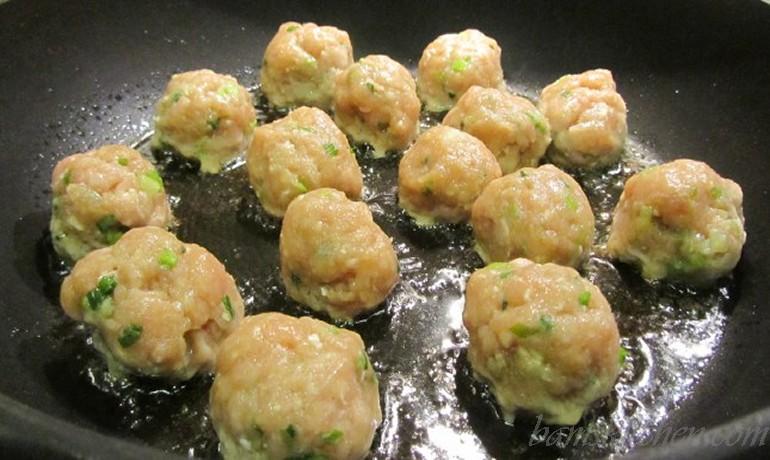 Asian meatball lollipops