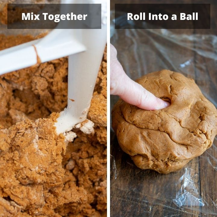 Mix together dough and roll into a ball.