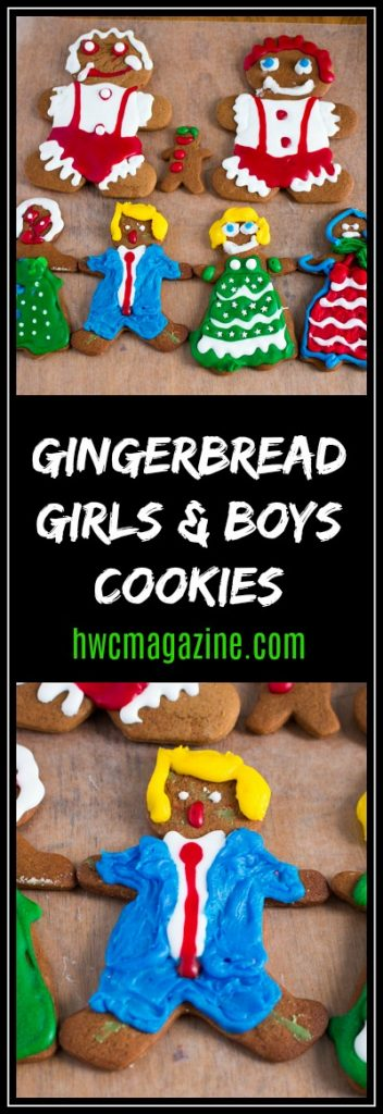 Gingerbread Girls and Boys Cookies / https://www.hwcmagazine.com