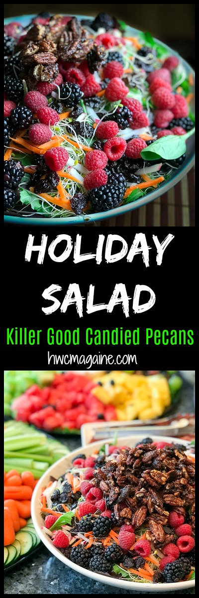 Dried Cranberry Sugar Glazed Pecan Holiday Salad