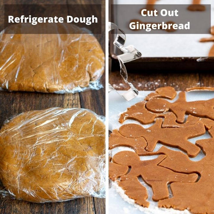 Refrigerate Dough and cut out gingerbread men and women.