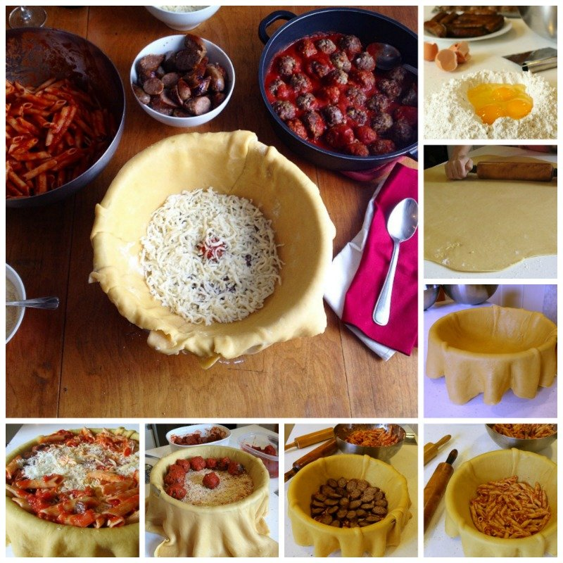 Step by Step photos on how to create the Timpano