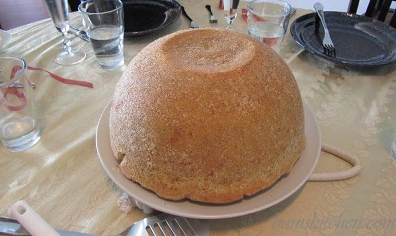 Timpano Italian Pasta Dome whole not cut into yet