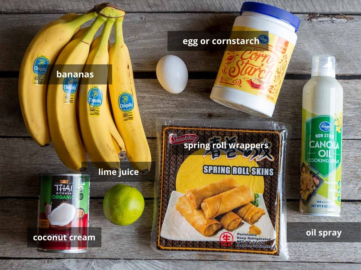 Ingredients to make recipe on a wooden board.