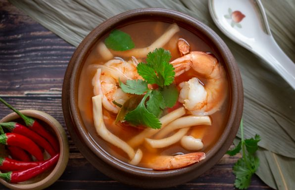 Thai Hot and Sour Prawn Soup / https://www.hwcmagazine.com