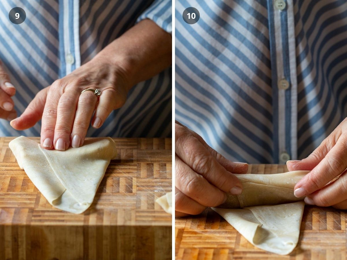 Press and seal and roll up like a tortilla.