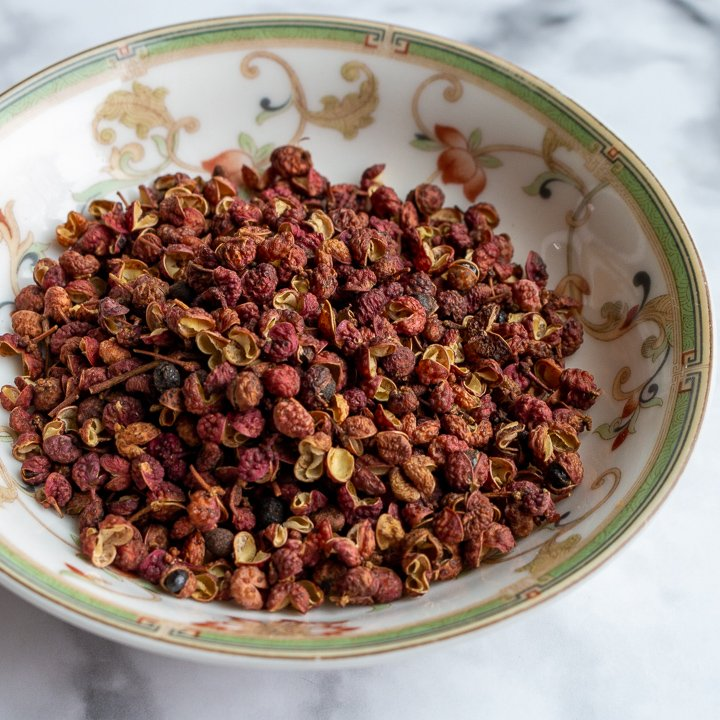 Bowl of Sichuan Peppercorns.