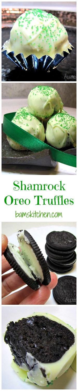 Shamrock Oreo Truffles/ http://bamskitchen.com