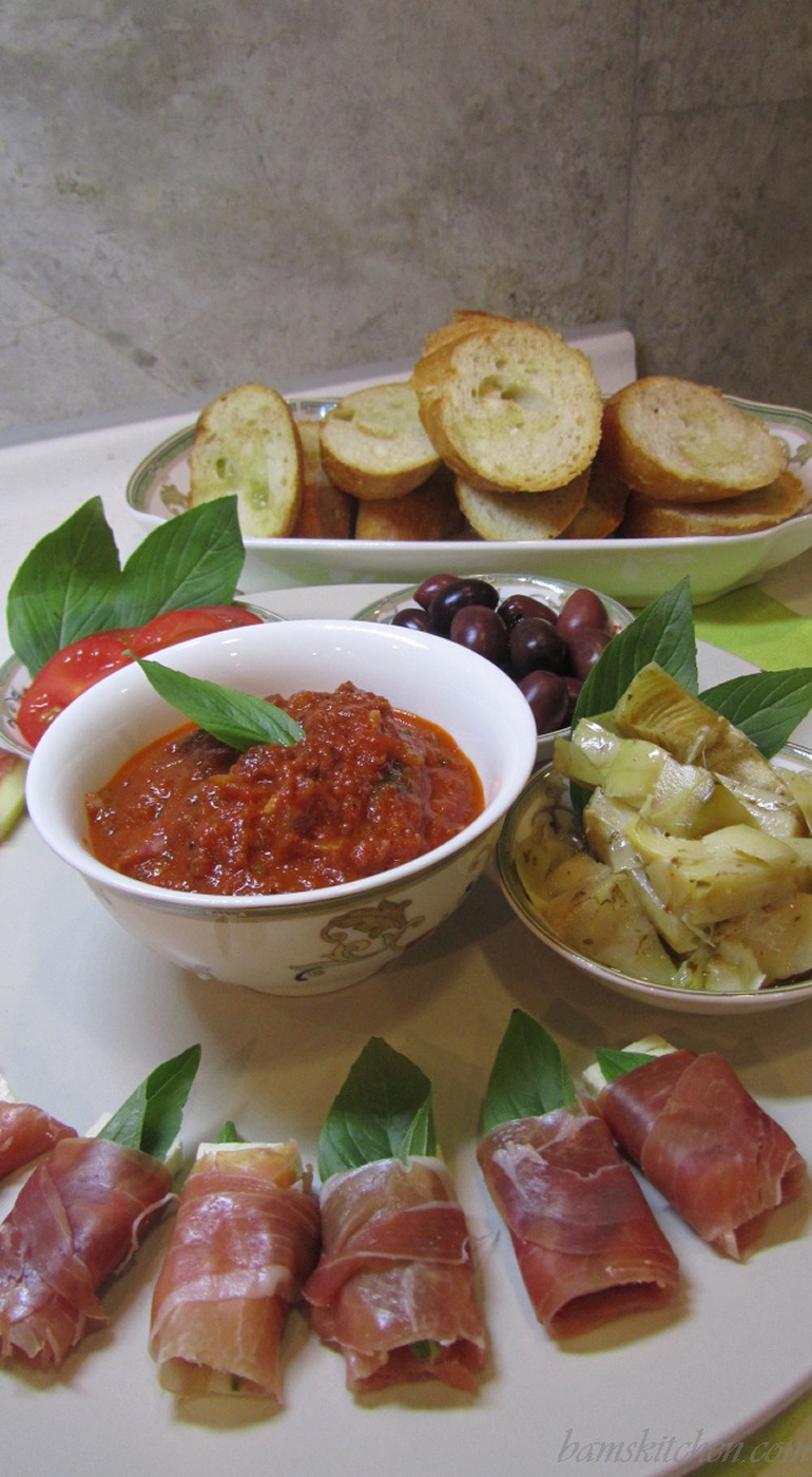 Antipasto platter for a crowd or one hungry teenager