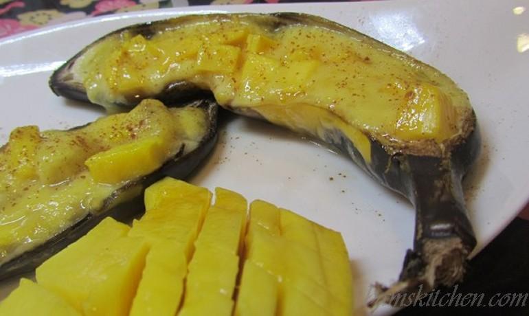Banana Mango Boats