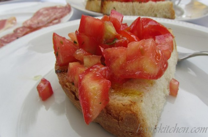 Bam's Breakfast Bruschetta with Italian EVOO