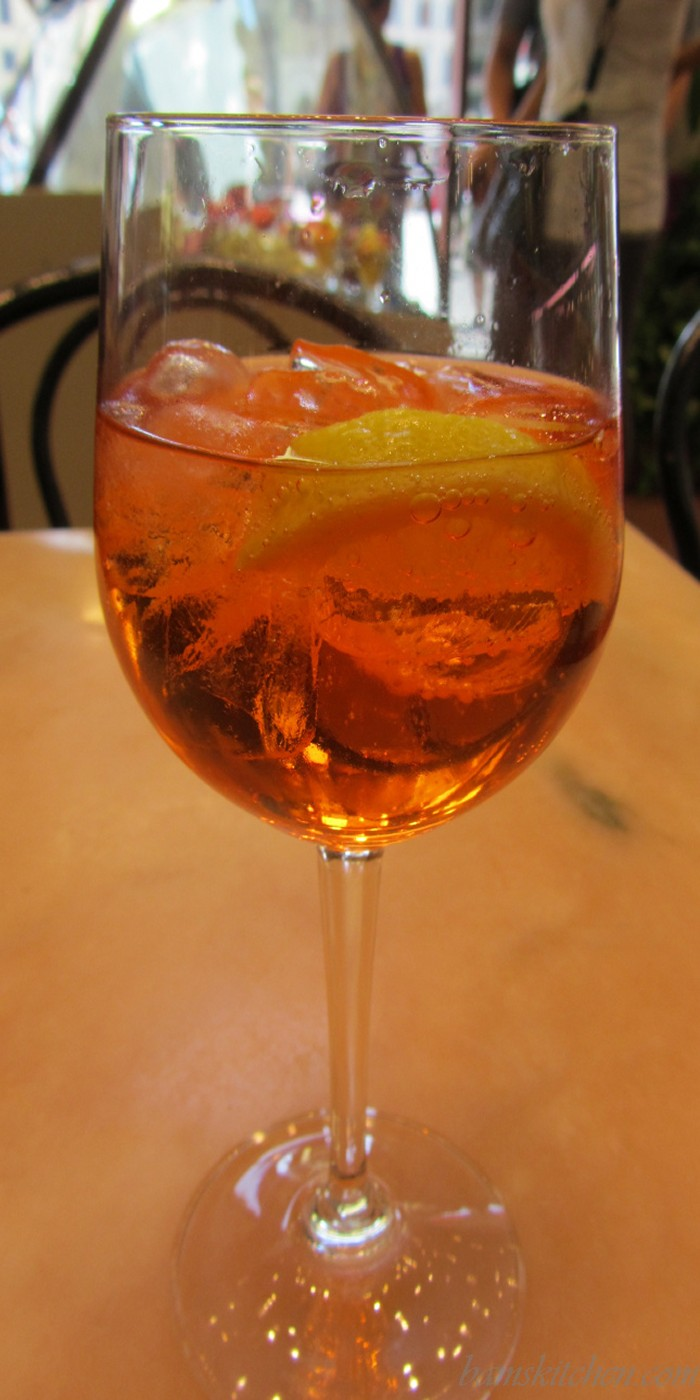 Aperol Spritz and surprise balls of fire