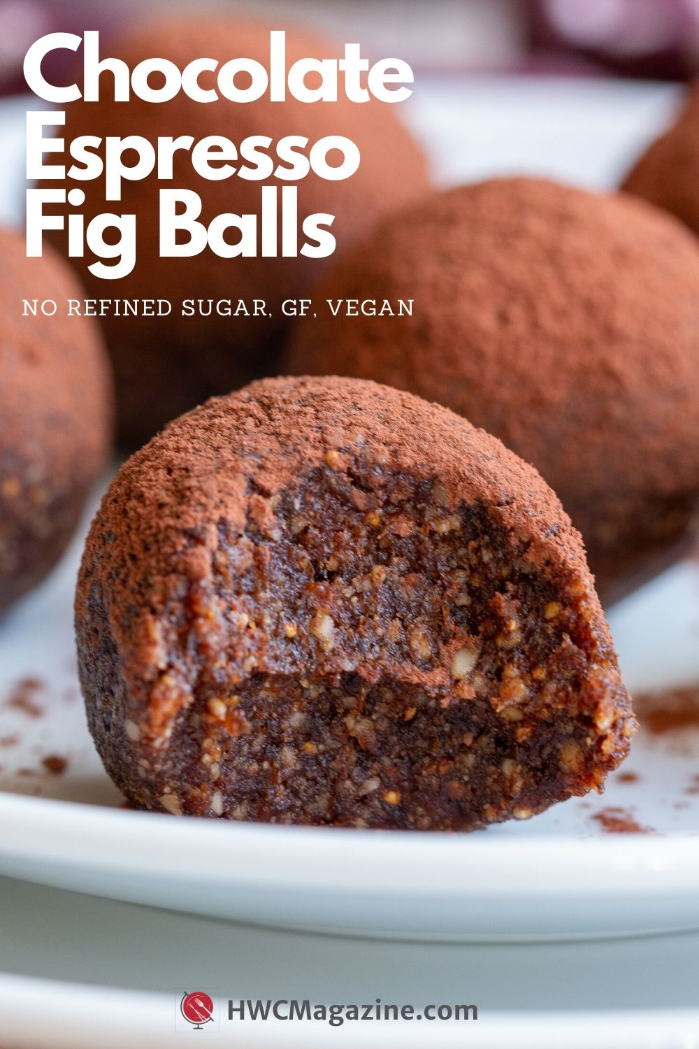 Chocolate Espresso Fig Balls / https:www.hwcmagazine.com