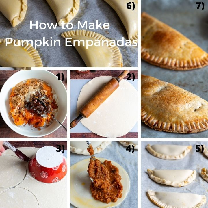 7 easy steps for making hand pies.