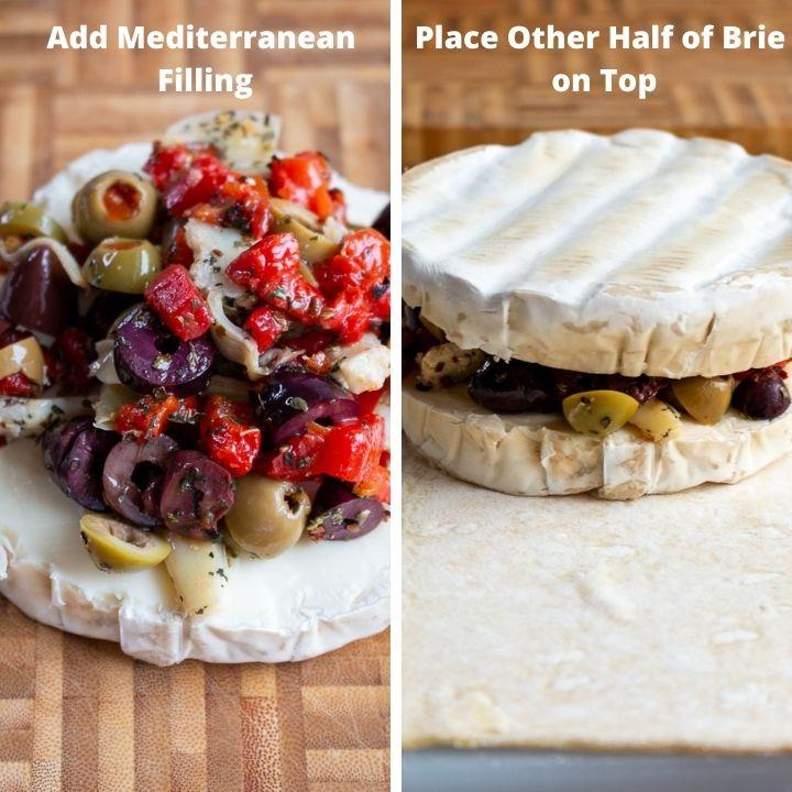 Step 3 Add Mediterranean Filling Inside Brie.