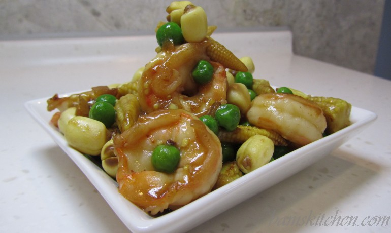 Lucky Shrimp and Lotus Seeds