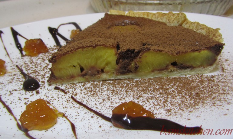 Nectarine Chocolate Tart
