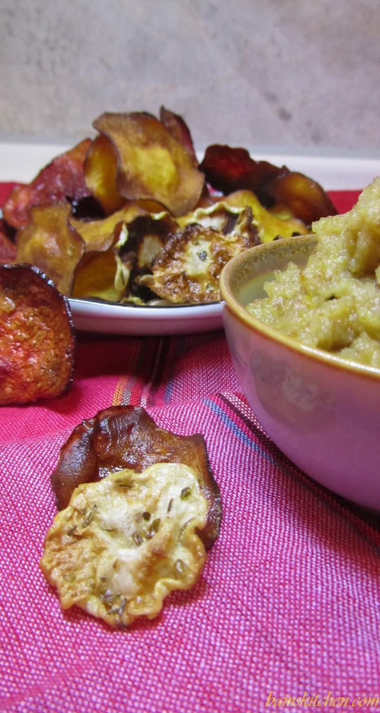 Veggie Crisps with Chestnut Humus Dip