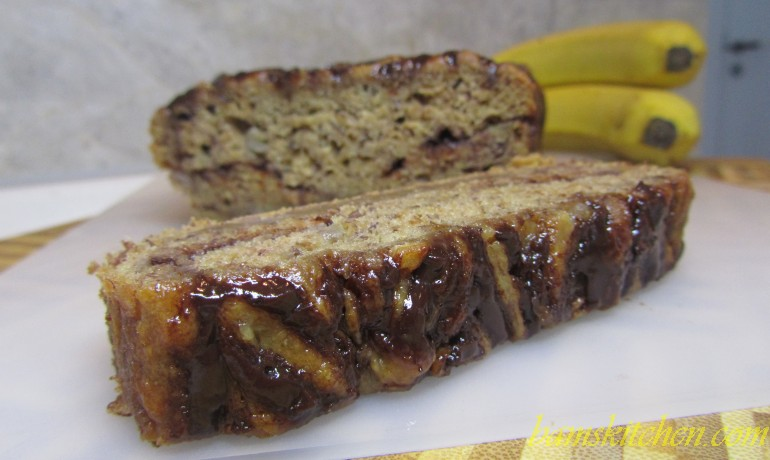 Almost Diet Nutella Banana Bread