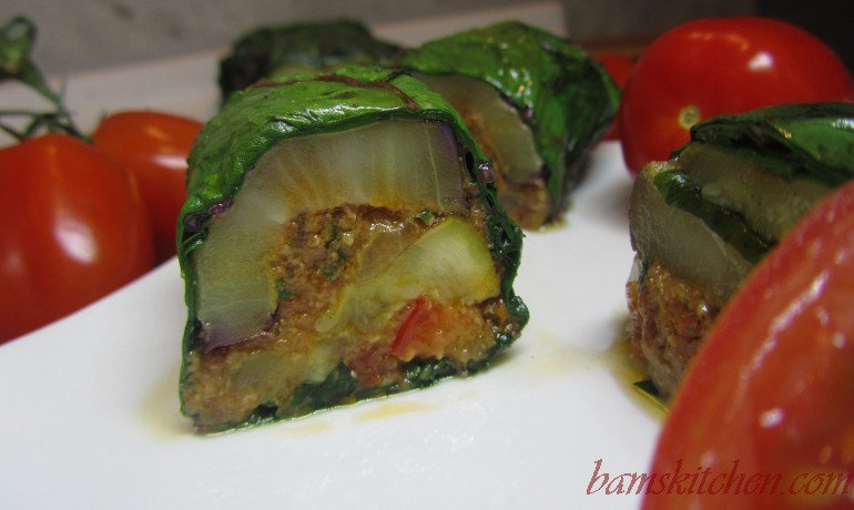 Veggies in a Blanket with red pepper pesto