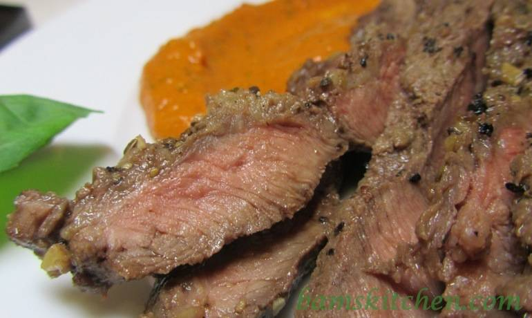 Caramelised Red Pepper Pesto Steak