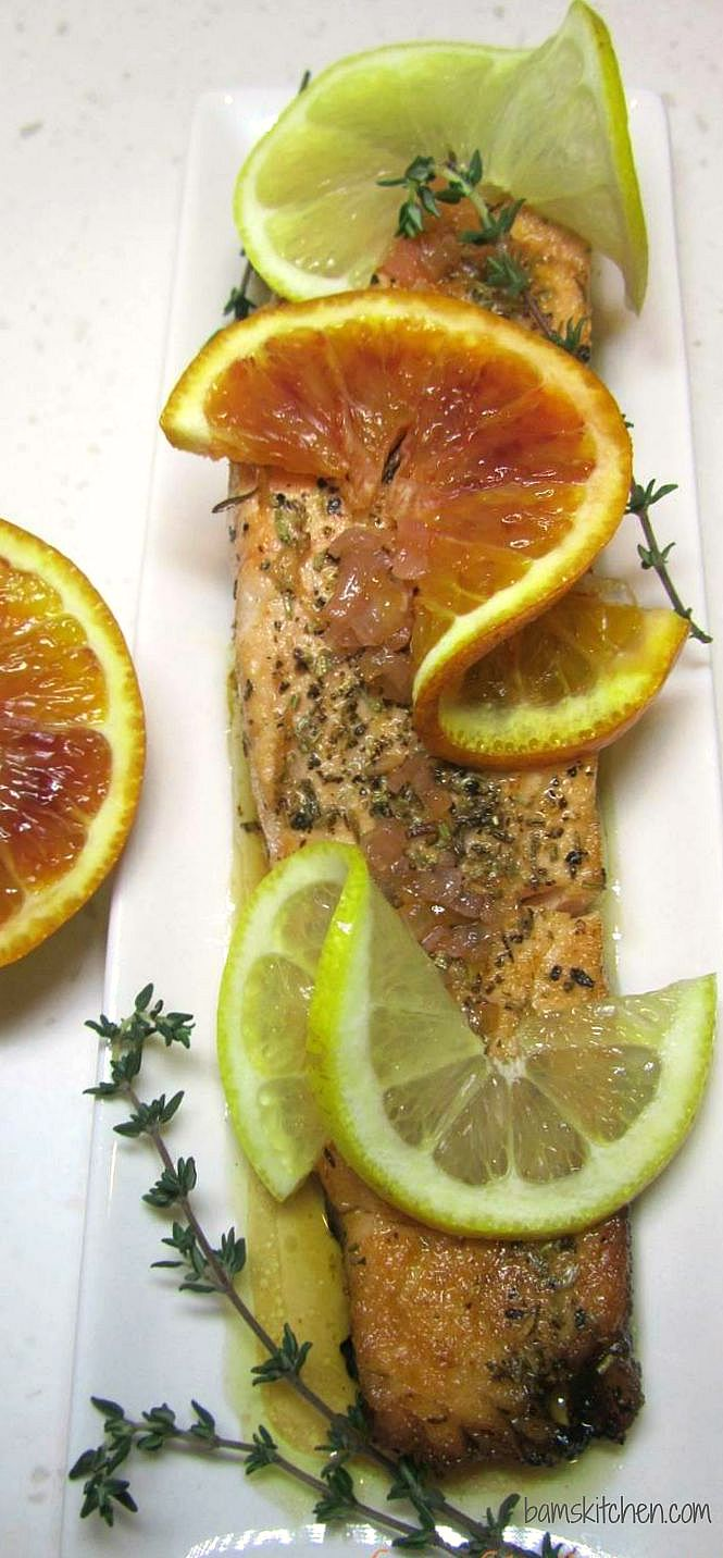 Sensational Summer Citrus Salmon / https://www.hwcmagazine.com