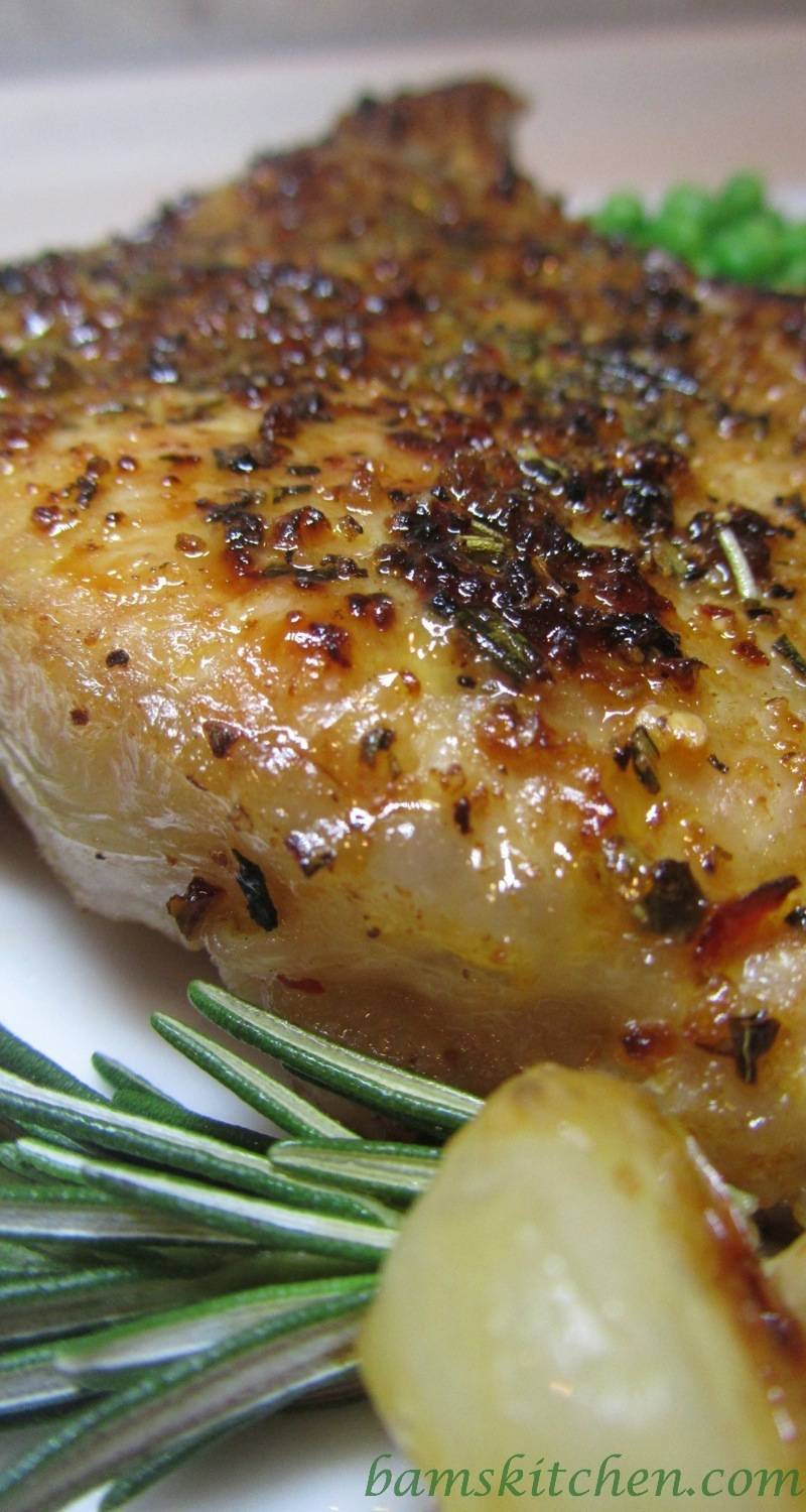 Rosemary Herbed Pork Chops with Shallot Wine Sauce ...