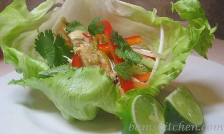 Sizzling Thai Chicken Lettuce Wraps