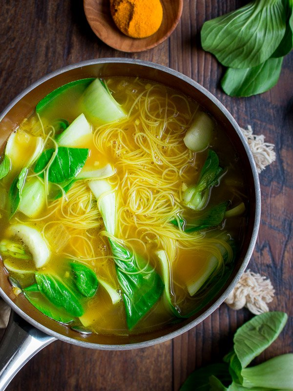 Golden Spiced Noodle Soup / https://www.hwcmagazine.com