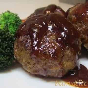Mozzarella Stuffed BBQ Meatballs