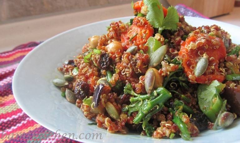 Warming Spiced Quinoa and Roasted Autumn Vegetables
