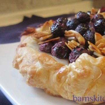 Blueberry Buckle Almond Tart