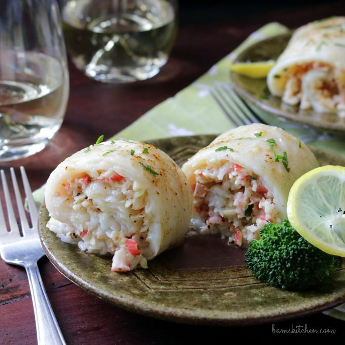 Crab Stuffed whitefish- flounder