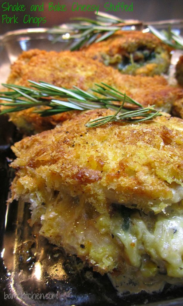 Shake and Bake Cheesy Stuffed Pork Chops / https://www.hwcmagazine.com