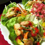 Spicy Shrimp Salad with Cilantro Lime Dressing / https://www.hwcmagazine.com
