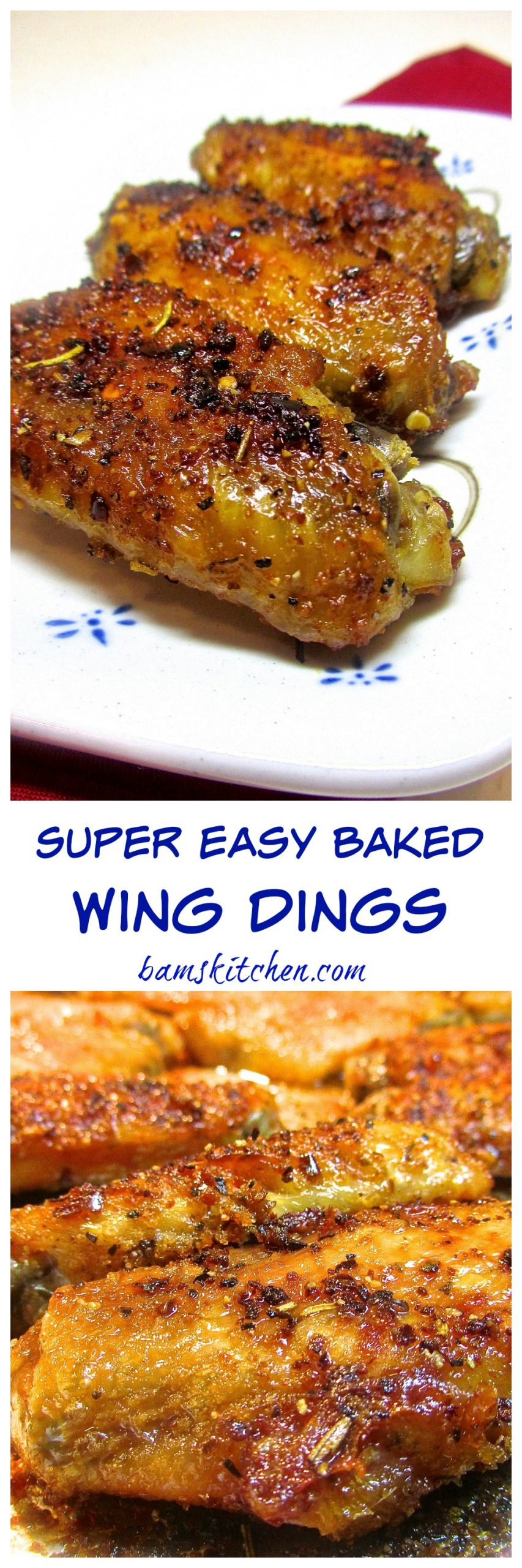 Super Easy Baked Wing Dings - Healthy World Cuisine