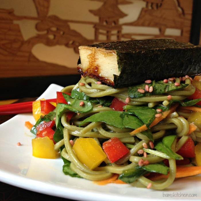 Matcha Soba Salad and Baked Norimaki_IMG_4579