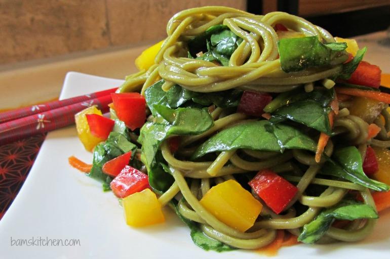 Matcha Soba Salad and Baked Norimaki_IMG_8270