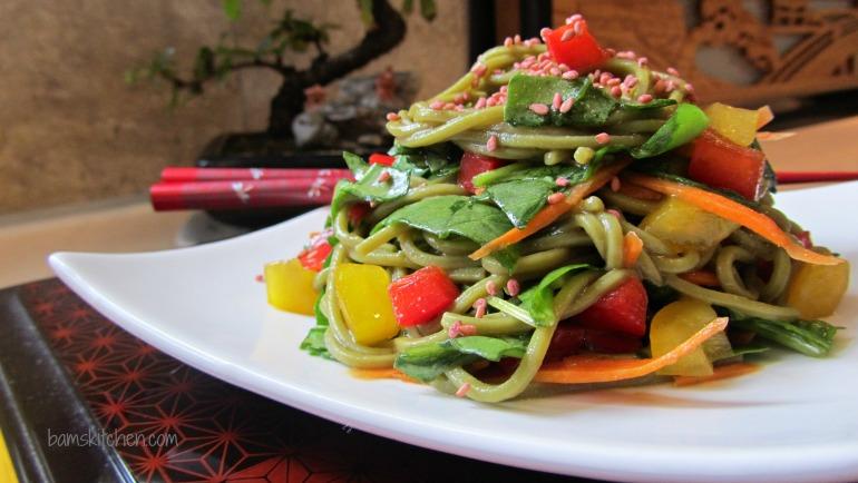 Matcha Soba Salad and Baked Norimaki_IMG_8283