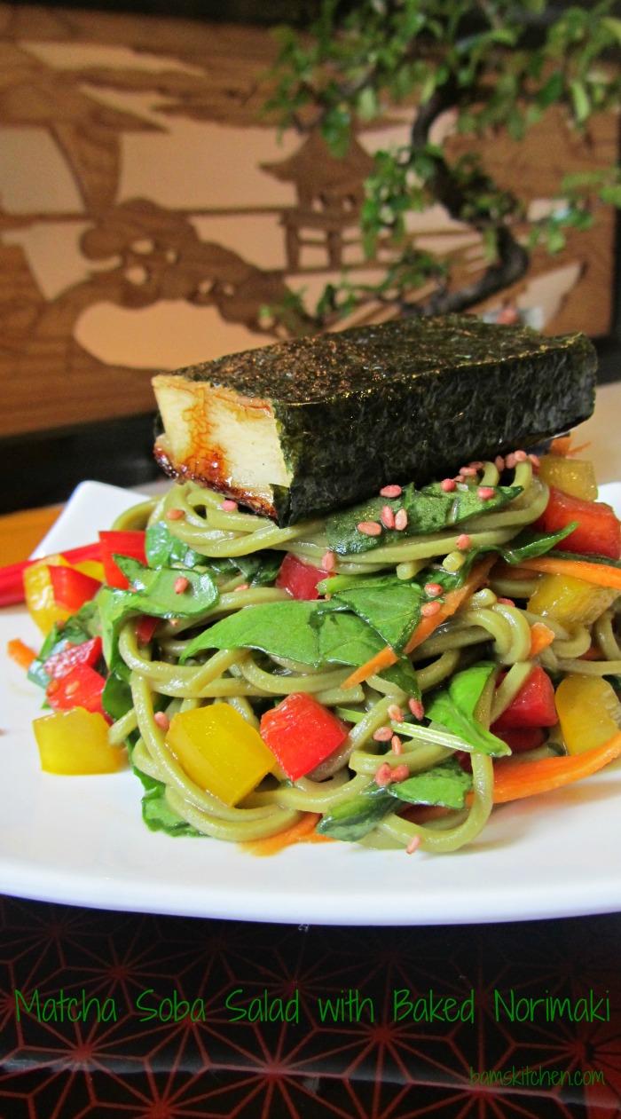 Matcha Soba Salad and Baked Norimaki_IMG_8292