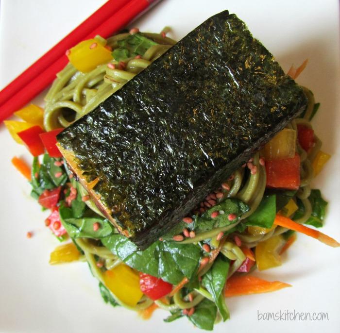 Matcha Soba Salad and Baked Norimaki_IMG_8293