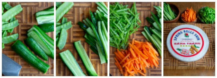 Step by step how to Julienne vegetables.