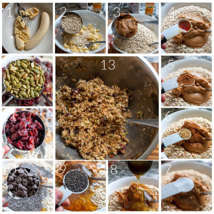 Step by Step Breakfast Cookies