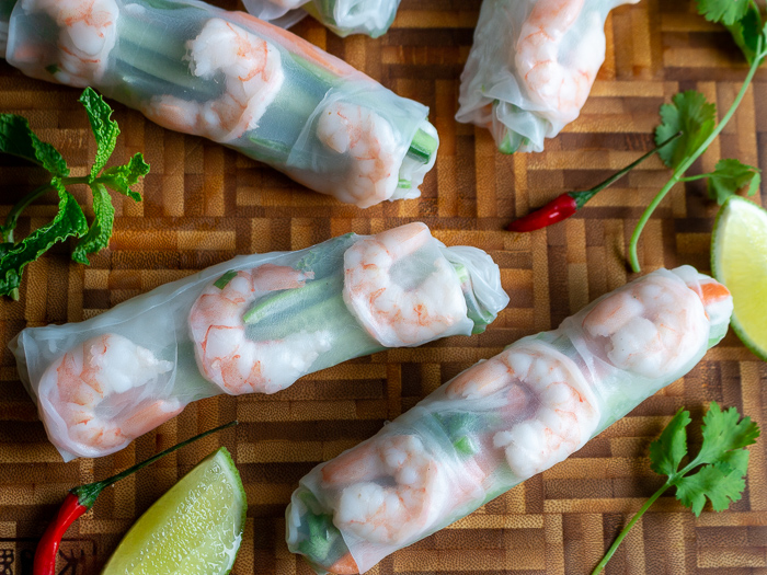 Summer Rolls with Chili-Lime Dipping Sauce / https://www.hwcmagazine.com
