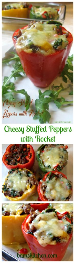 Cheesy Stuffed Peppers with Rocket / https://www.hwcmagazine.com