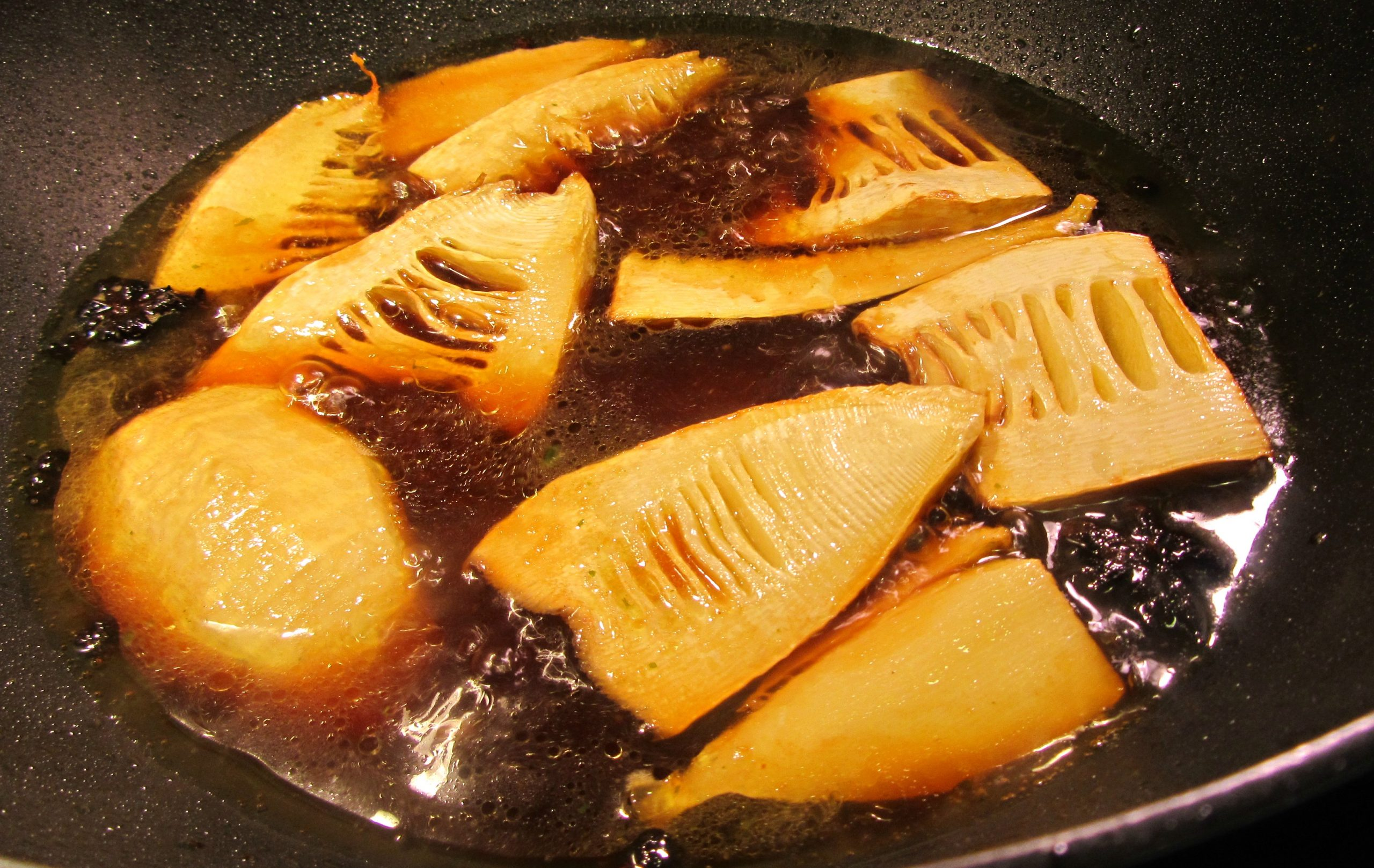 Star anise braised bamboo shoots_IMG_8518