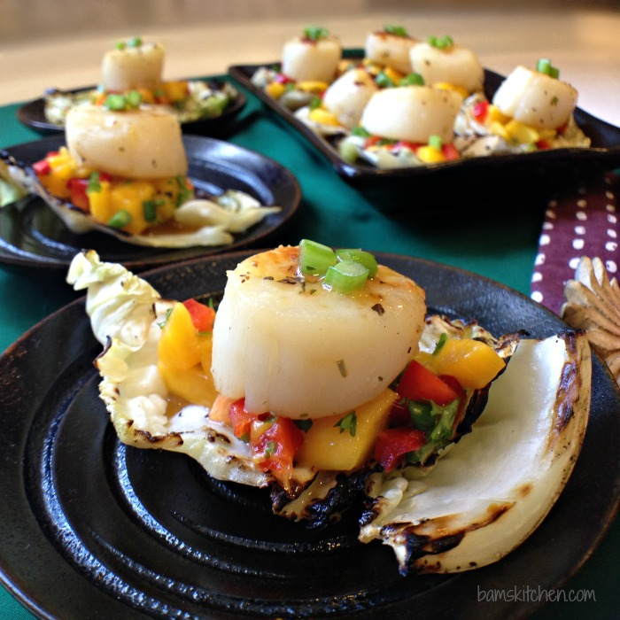 Fruity Scallops on Grilled Cabbage cups_IMG_5185