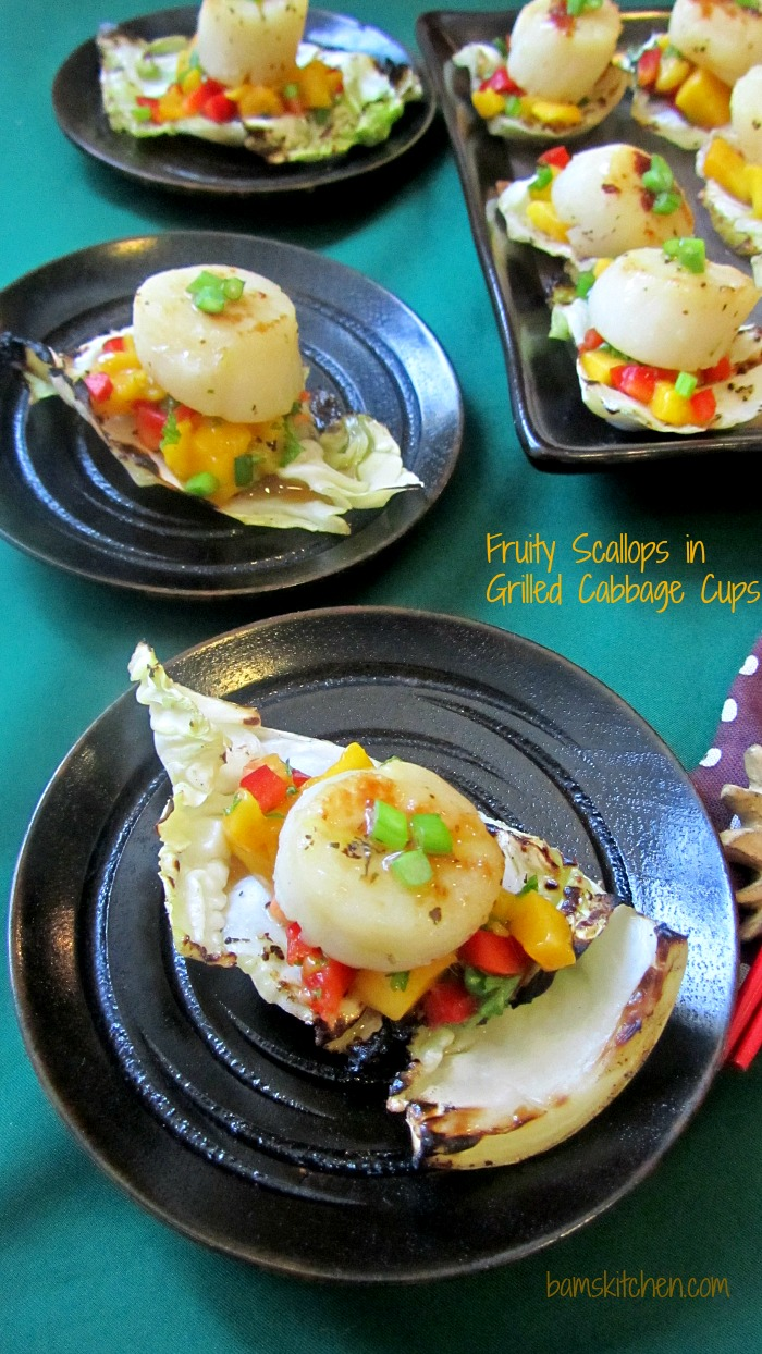 Fruity Scallops on Grilled Cabbage cups_IMG_8956